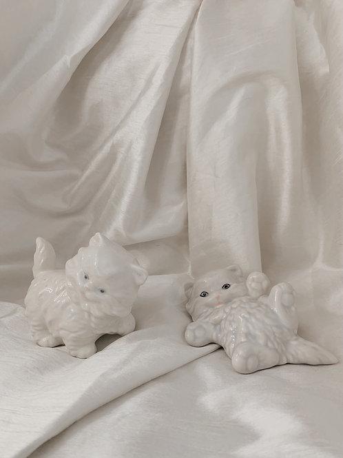 small kitten ceramic figurine