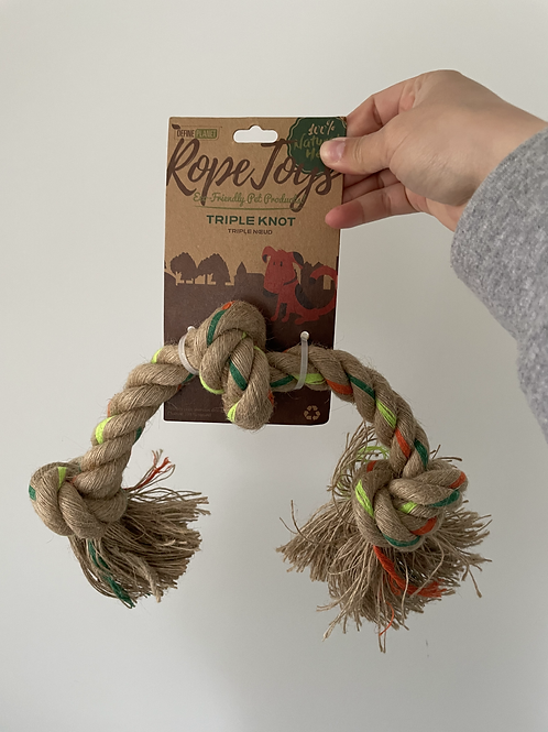 Triple Knot Rope Toy