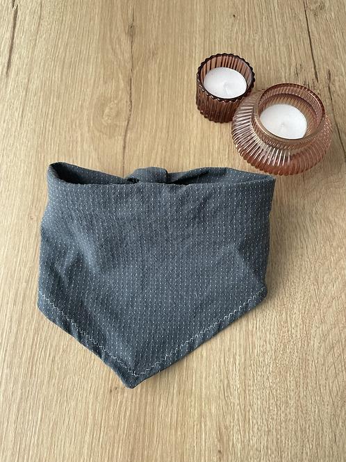 Steel blue tie bandana - large