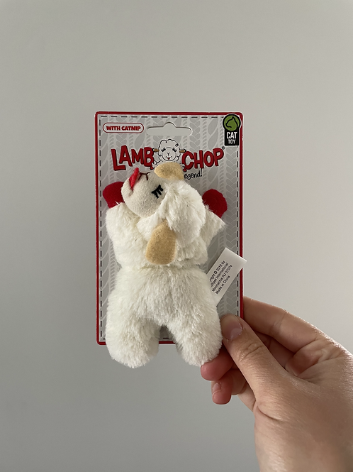 Lamb Chop CAT toy with catnip