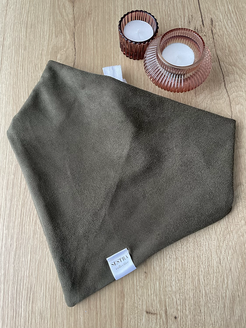 Sentra Olive Suede bandana - large