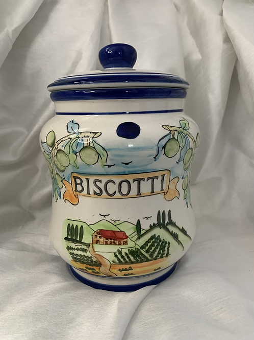 Large biscotti treat jar