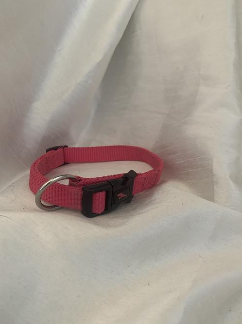 Pink Nylon Collar - SIZE SMALL