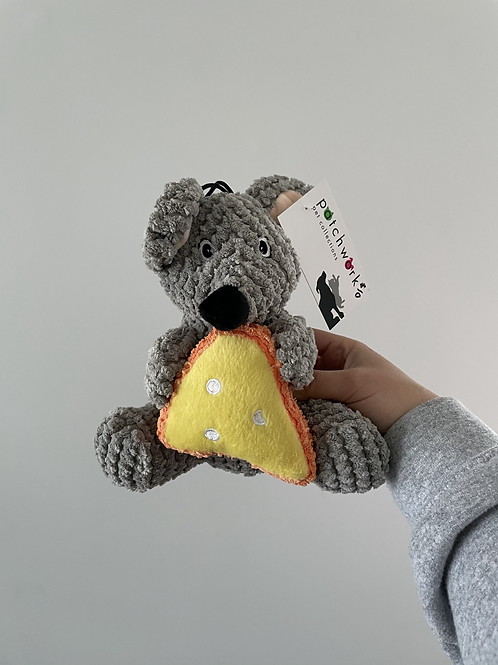 Patchwork Mouse With Cheese Plush