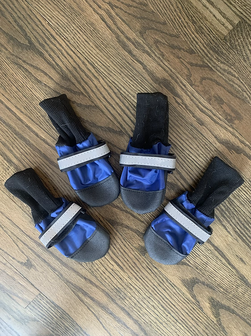 Blue and Black Booties - LARGE