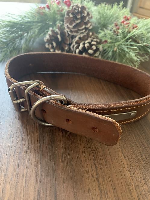 Genuine Leather Collar -M/L
