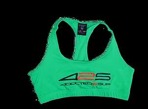 green sport bra