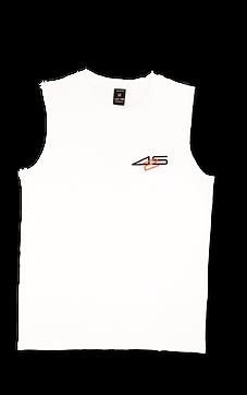 T shirt sleeveless white