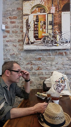 Philippe Nadouce in a cafe of New Orleans 2016