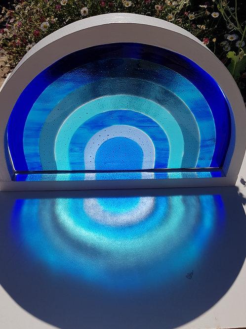 Blue Rainbow framed in White