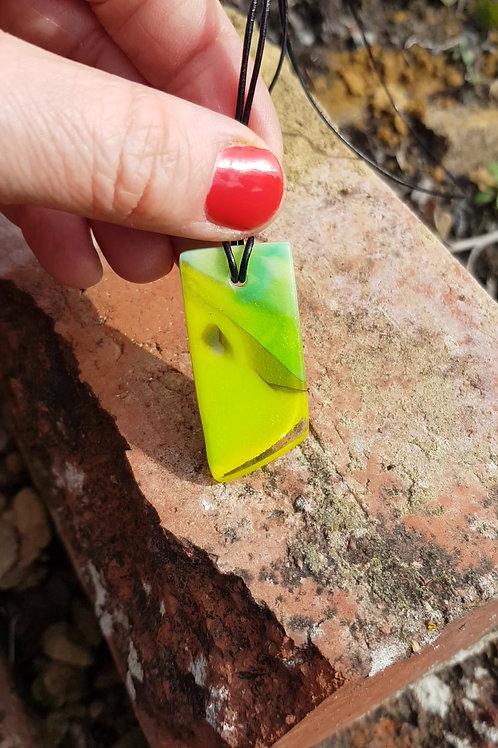 Asymmetrical Lime Reversible Pendant