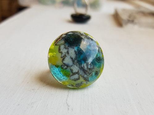 Planet ring green blue med