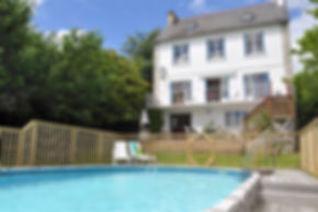 Heated swimming pool, Brittany