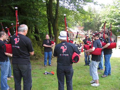 Bagpipe Festival in the woods