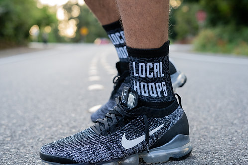 LOCALHOOPS  Sock- Black/White