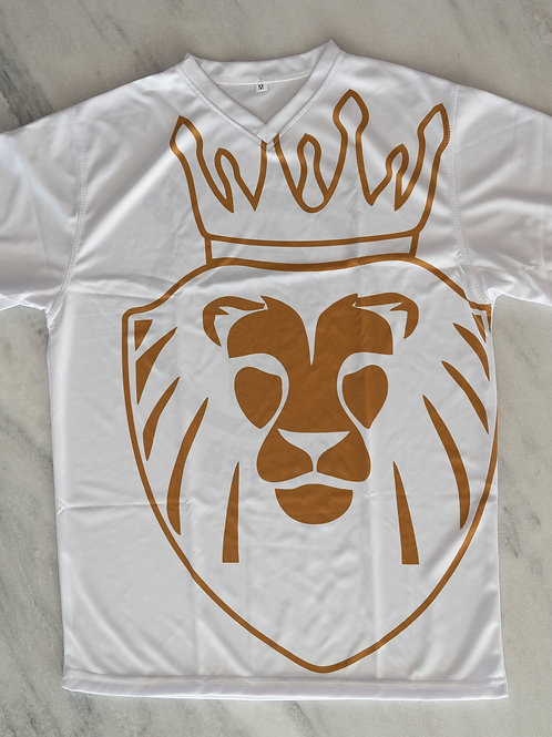 Lion T-Shirt White/Gold/Black