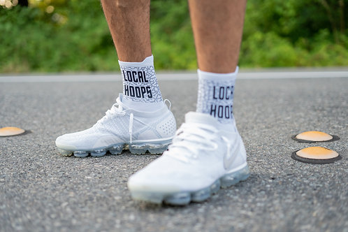 LOCALHOOPS Sock- White/Black