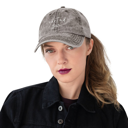 Rooted Women's Vintage Cotton Twill Cap