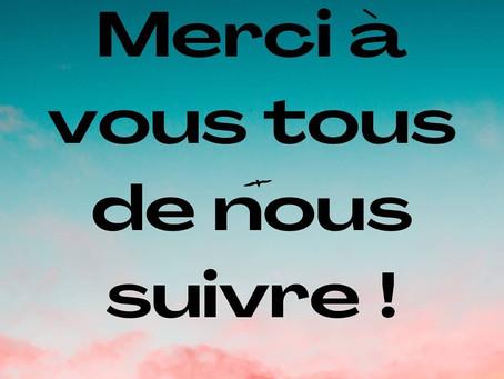 Un grand MERCI à vous tous ! 🥰