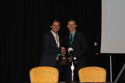 Dr. Don Brown Presents Award