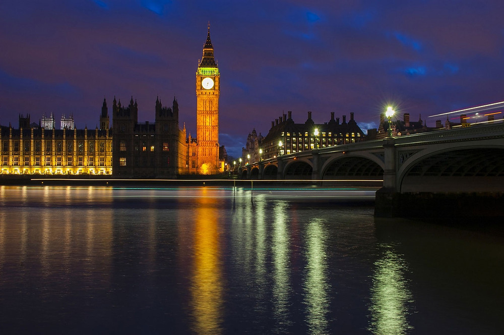 image of big ben at night