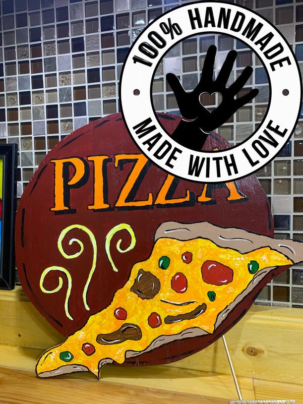 Wooden Pizza Sign_Door Hanger