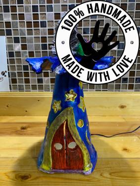 Handmade / Hand-painted Wizard's Hat Sty