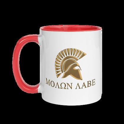 """MORE PAIN/MOLON LABE"" Mug with Color Inside"