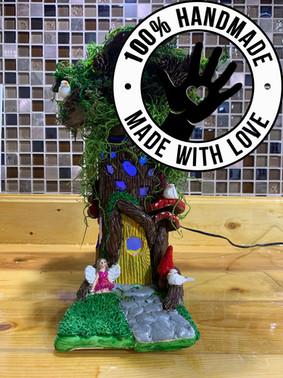 Handmade / Hand-painted Fairy Tree House