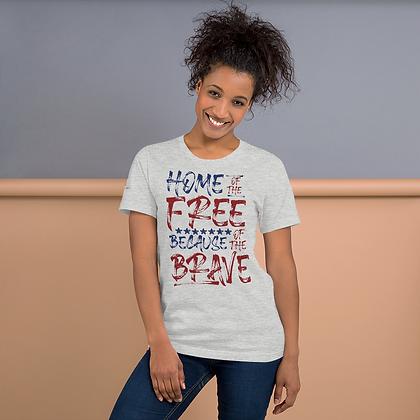 """""""FREE & BRAVE"""" Short-Sleeve Unisex T-Shirt"""
