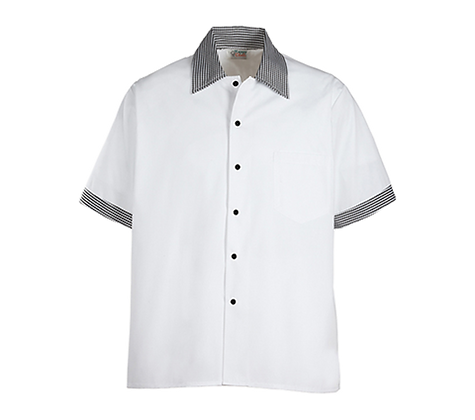 Contrast Trim Kitchen Shirts (Pack of 6)