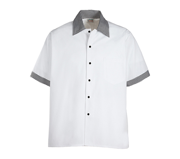 Contrast Trim Kitchen Shirts