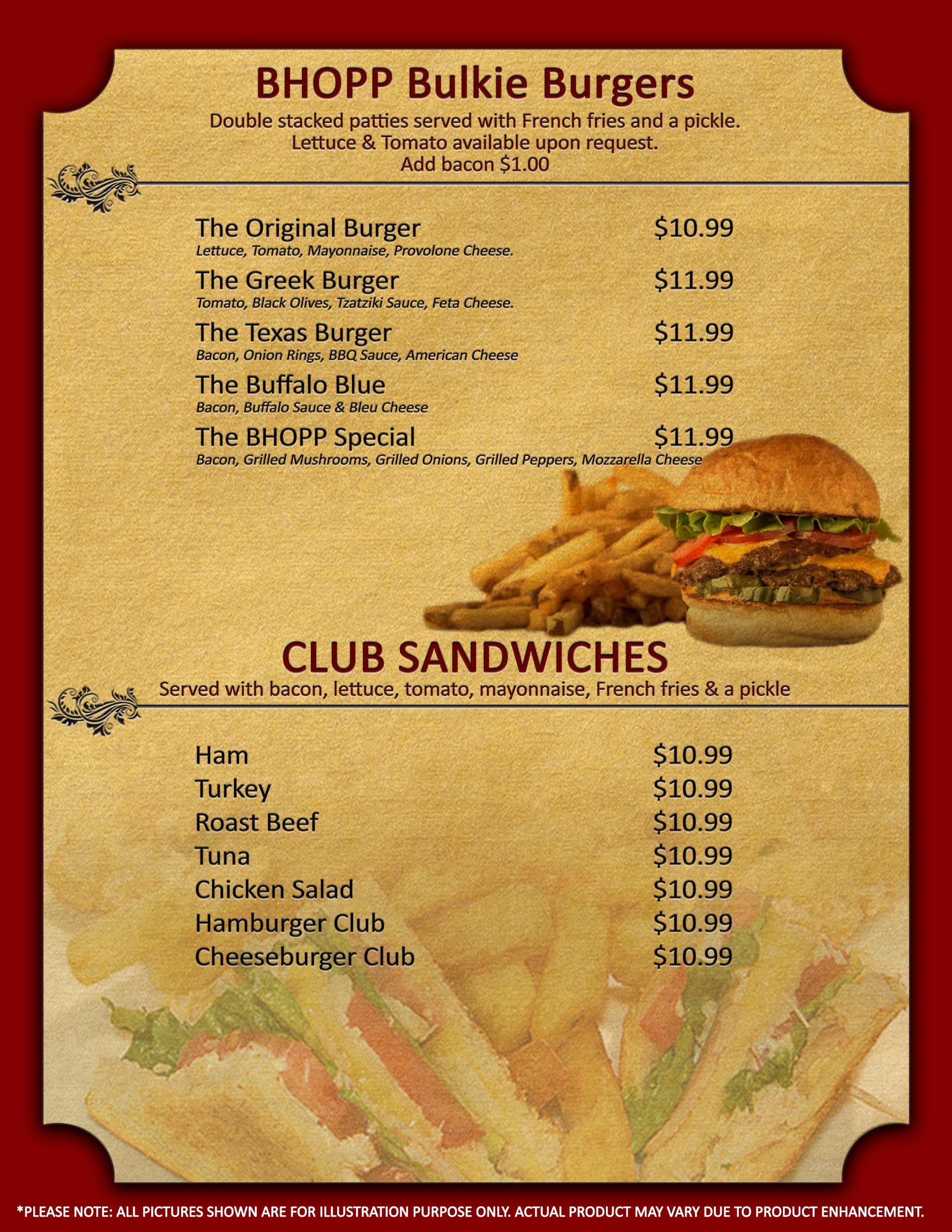 Burges & Cub Sandwiches