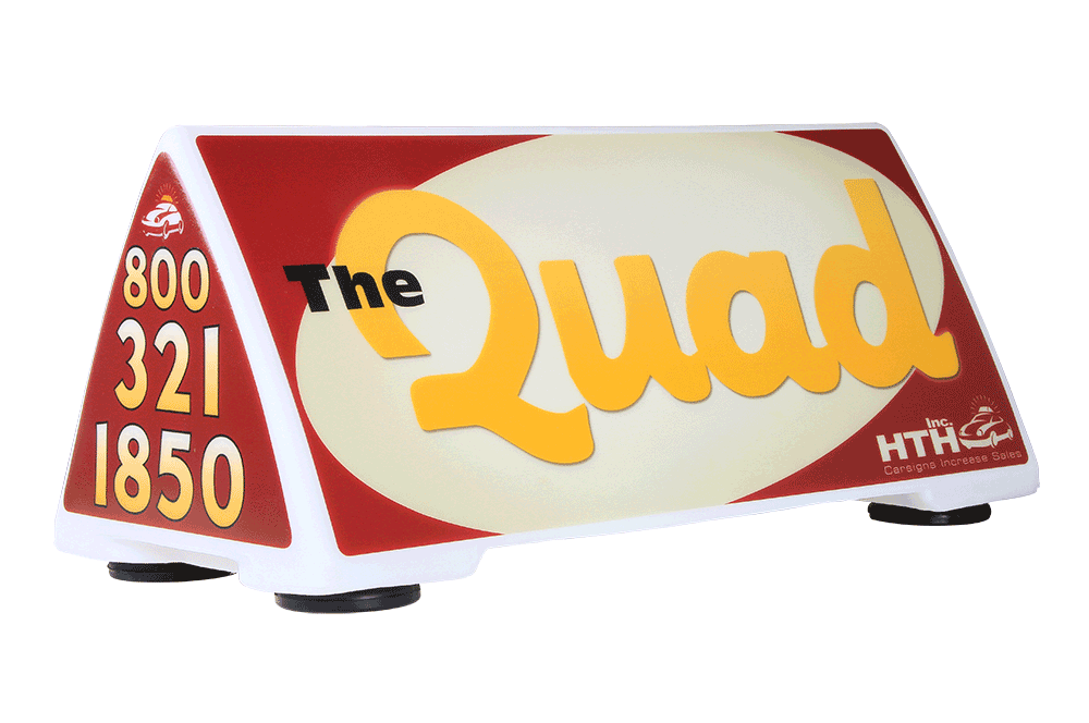 Quad Car Sign
