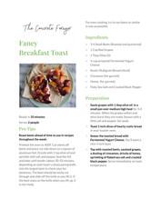 Fancy Breakfast Toast