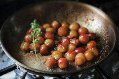 Kara Olsen Food Photographer blistered grapes