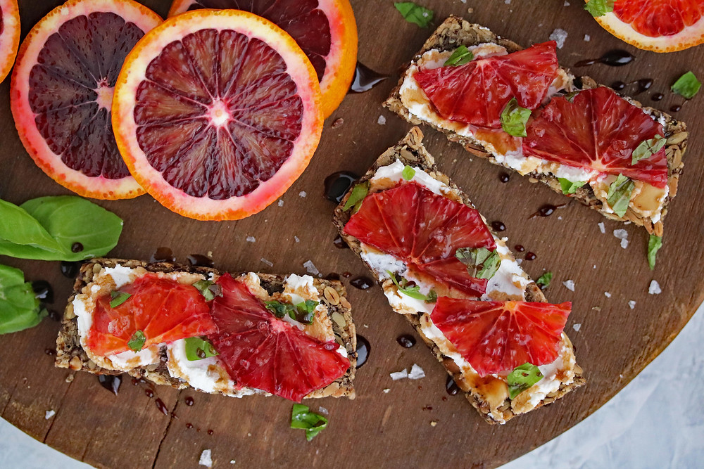 Blood Orange Crostini
