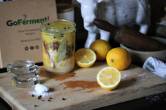 Go Ferment weights with preserved lemons