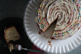 Kara Olsen Food Photographer Giant Cinnamon Roll Birthday Cake