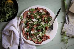 Kara Olsen Food Photographer Roast beef Carpaccio
