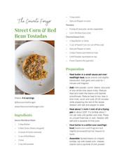 Street Corn & Red Bean Tostadas