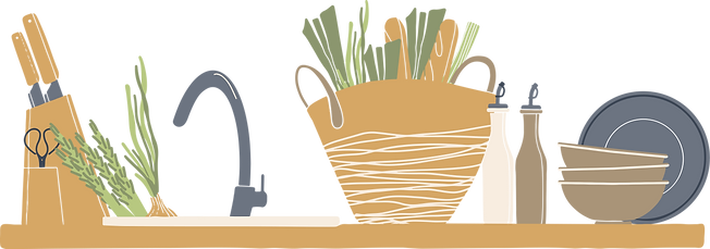 The Concrete Forager Kitchen Graphics