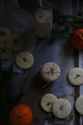 Kara Olsen Food Photographer Evergreen & Orange Shortbread