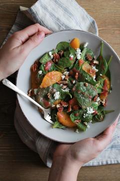Spiced Plum Dressing on Salad