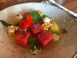 Kara Olsen Food Photography Rustic Root Watermelon yuzu salad
