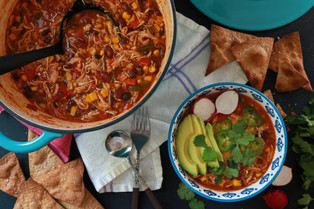 Slow Simmered Chicken Chili or 30 Minute Vegetarian