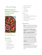 Blood Orange & Balsmaic Crostini with Nordic Health Bread