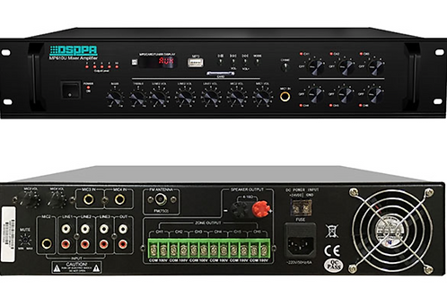 MP610U PA Mixer Amplifier with 6 zones output