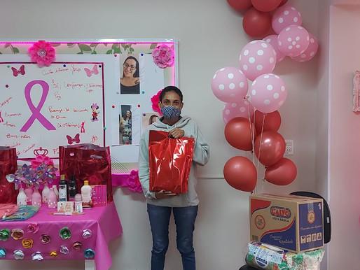 São Paulo – ABRAPEC da início à Campanha do Outubro Rosa com entrega de benéficos.