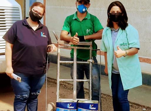 Campo Grande - Casa das Cores realizou doação de tintas para a ABRAPEC.